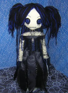 Gothic Amy Lee Rag Doll by Zosomoto (www.tatteredrags.net)
